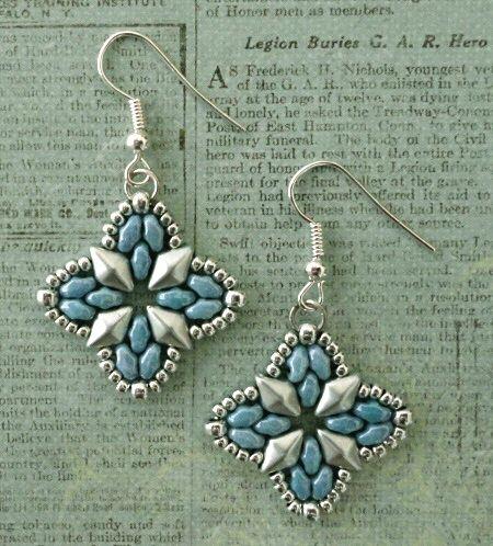 Roundabout Bracelet & Earrings - Blue & Silver