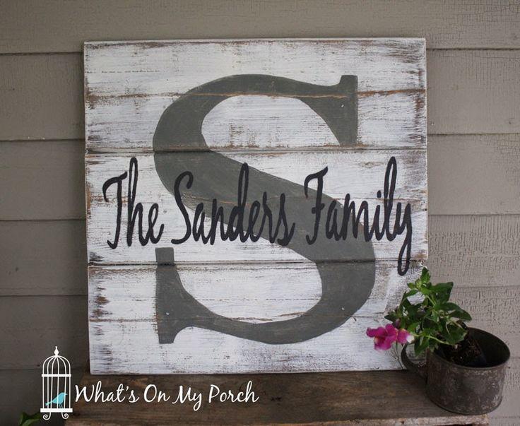 Best 25+ Name pallet sign ideas on Pinterest | DIY wedding wood ...