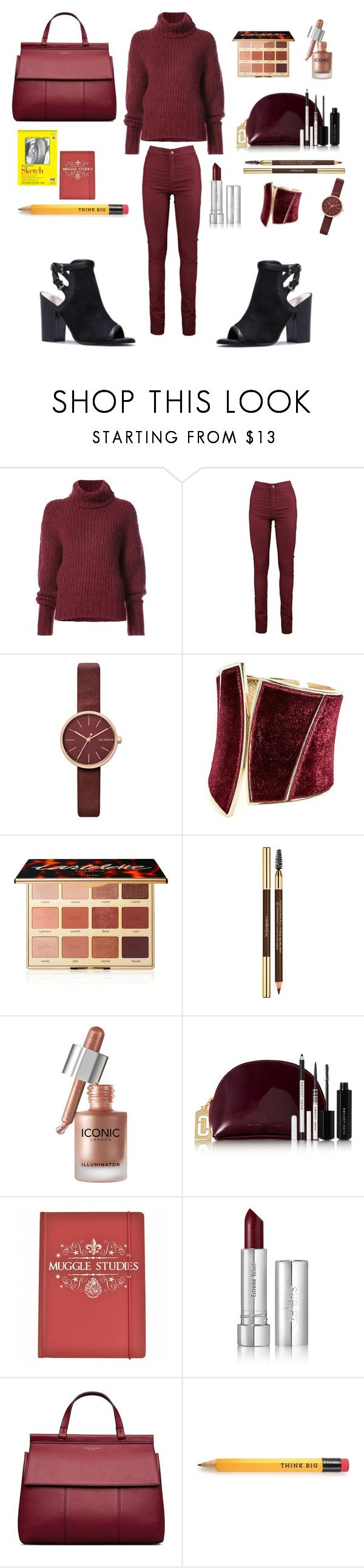"""""""Study 📖 hard chic"""" by jackie-hoot ❤ liked on Polyvore featuring BY. Bonnie Young, Nayeli, Skagen, GUESS by Marciano, tarte, Yves Saint Laurent, Marc Jacobs, Zelens and Tory Burch"""