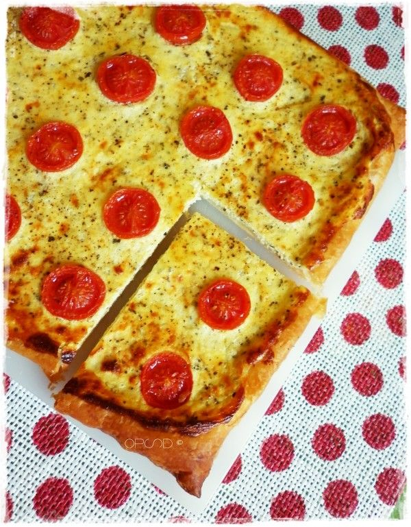 Pizza Pie with Ricotta and Cherry Tomatoes ~ Sonia Monagheddu