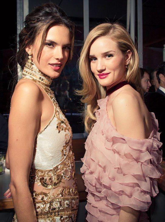 Photos: Photos: A Bird's-Eye View of the 2013 Oscar Party | Vanity Fair. Alexandria Ambrosia and Rosie Huntington-Whiteley.
