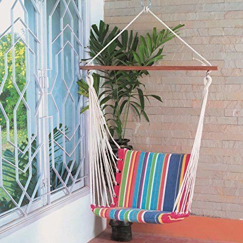 hangit soft swing multi colour hammock chair for kids  cotton  hangit http  119 best hangit hammock swing in amazon images on pinterest  rh   pinterest