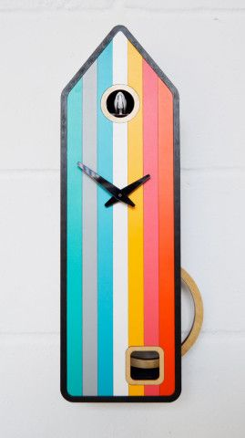Color-House Modern Cuckoo Clock inspired by Black Forest Clocks