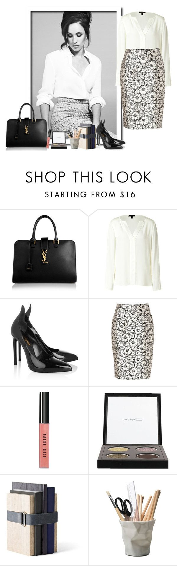 """Rachel Zane, Suits"" by guemara ❤ liked on Polyvore featuring Yves Saint Laurent, Belstaff, Burberry, Bobbi Brown Cosmetics, MAC Cosmetics, Menu, ESSEY, Suits and rachelzane"