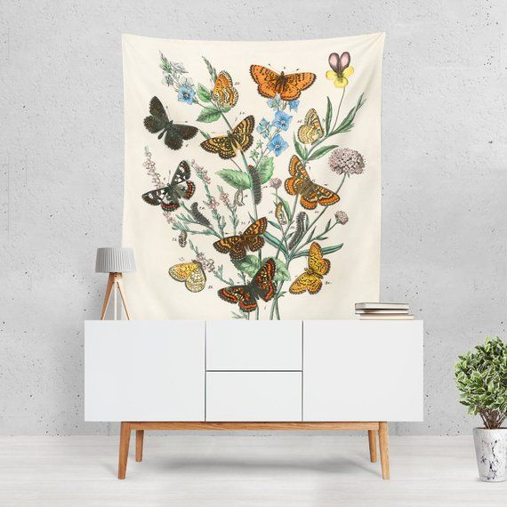 Butterfly Wall Hangings Tapesty Vintage Art Print Poster