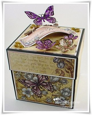 Butterfly Decorative Box/ Explosion box...Heartfelt Creations  Gorgeous!