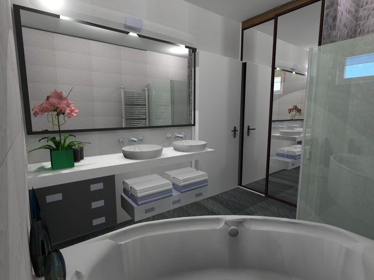 Bathroom interior design, Fürdőszoba látványterv