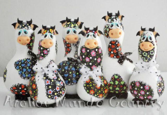 Tays Rocha: Galinhas, vaquinhas e fruteiras de cabaça #gourds #cabaças #purungos #reciclagem #recycle #crafts #artesanato