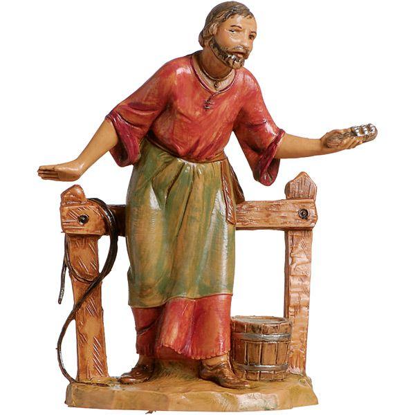 Fontanini Villagers: Abda Stablehand Nativity Figures-Leaflet Missal