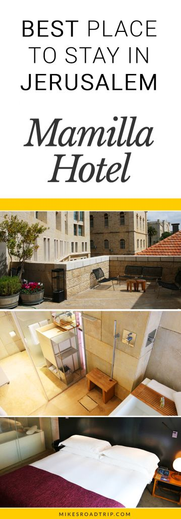 Best Hotel in Jerusalem has to be the Mamilla Hotel. If you're looking for the best hotels in Jerusalem, have a look at the pics and article on the Mamilla Hotel: https://www.mikesroadtrip.com/mamilla-hotel
