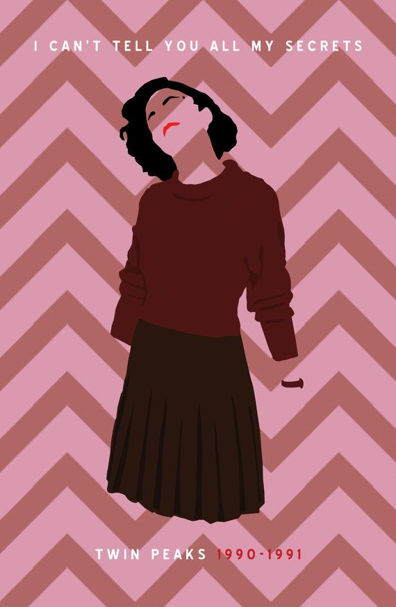 Twin Peaks Audrey Horne Secrets Poster by CultClassicPosters http://blogbypaul.wordpress.com/2014/10/06/ill-see-you-again-in-2-years/