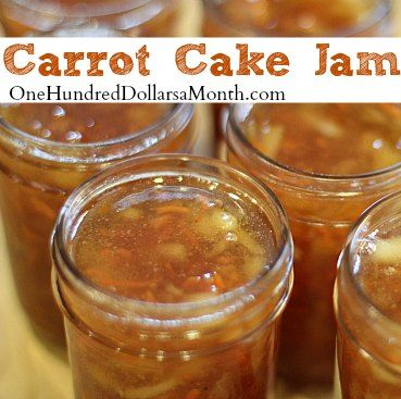 Carrot cake jam recipe. It looks lovely, but has a little too much sugar for me to post it on the healthy food board.