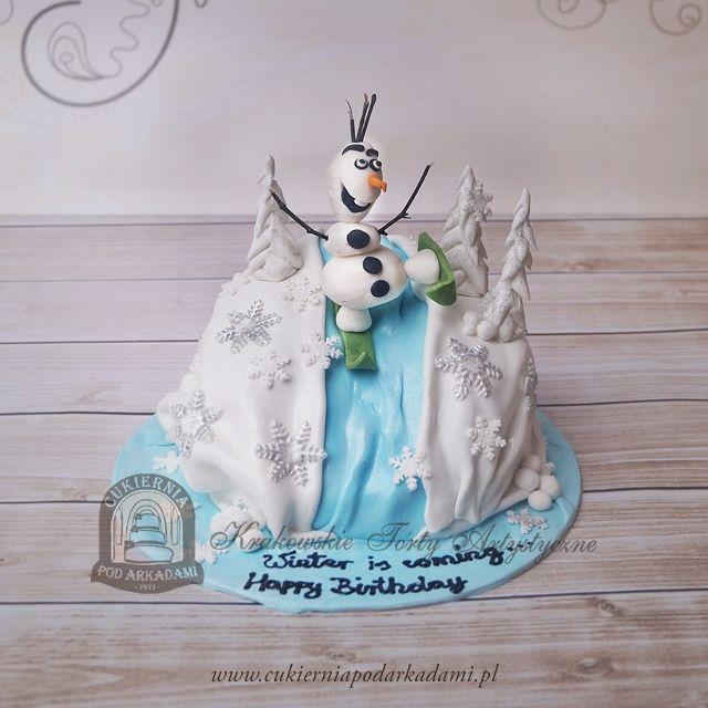67BD Tort bałwan Olaf Frozen.Olaf The Snowman – Frozen inspired cake.