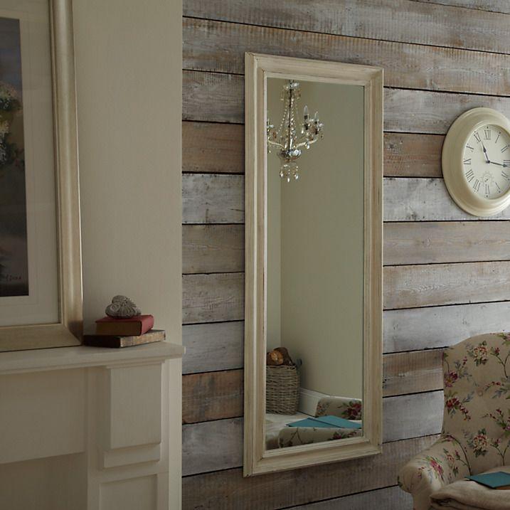Buy John Lewis Distressed Full Length Mirror, Cream, 132 x 52cm Online at johnlewis.com