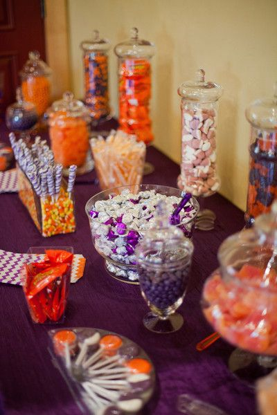 Purple and Orange Fall Wedding Wedding Real Weddings Photos on WeddingWire