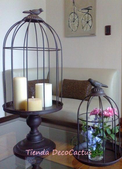 Las 25 mejores ideas sobre jaulas decorativas en for Setas decorativas para jardin
