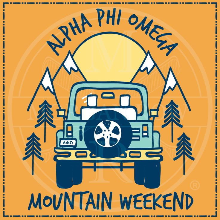 Morgan Row | Greek Tee Shirts | Greek Tanks | Custom Apparel Design | Custom Greek Apparel | Fraternity Tee Shirts | Fraternity Tanks | Fraternity Shirt Designs  | Fraternity Shirt Ideas | Greek Life | Hand Drawn | Fraternity | Brotherhood | Mountain Weekend | Jeep | Alpha Phi Omega