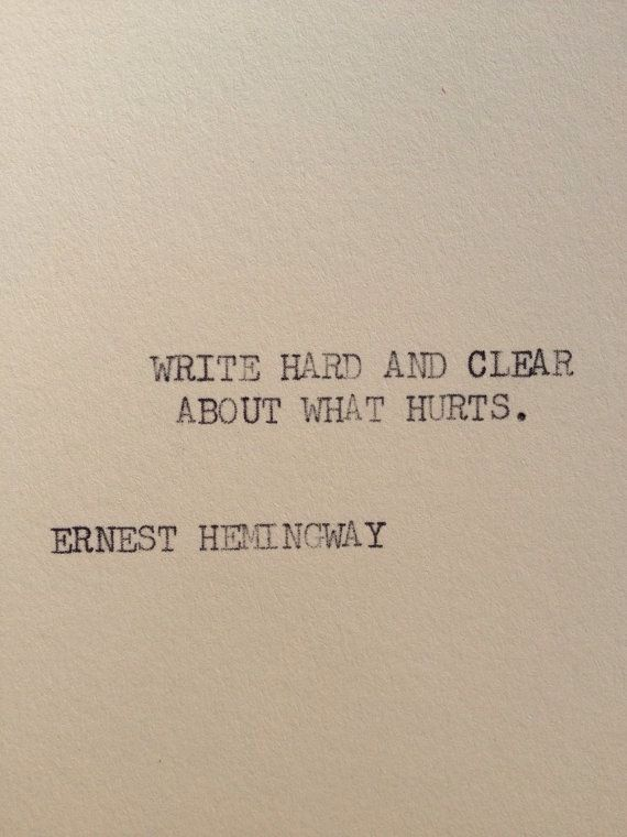 Typewriter shox     HEMINGWAY Writing  Tools  x  cardstock THE on Ernest      Hemingway womens and ebay quote