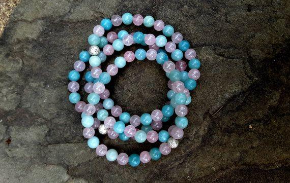 Bracelet de perles 6mm Pierres Style par bijouxmadewithhope