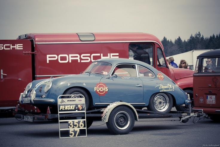 Not period, but a great photo all the same. Porsche 356 Hockenheim Historic 2012