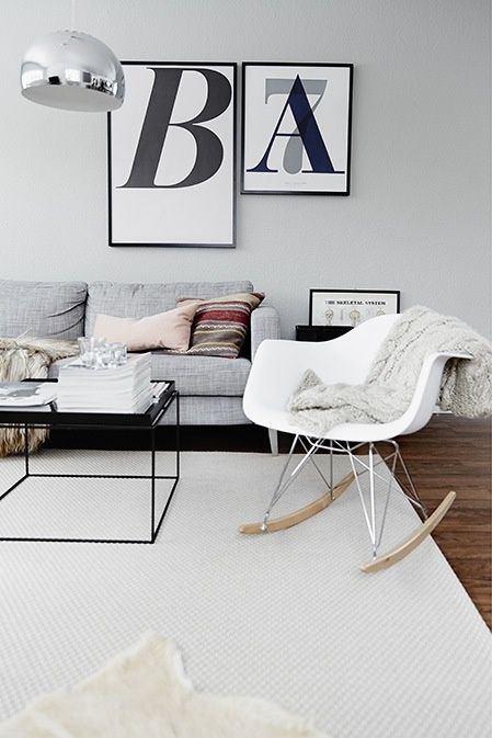 HAY tray table combined with grey sofa - I love it!