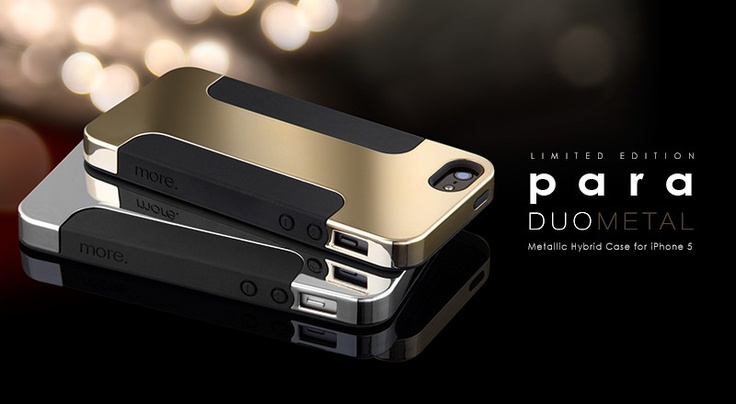 I'm currently and Android guy, but that is a pimp iPhone case! Para Duo Metal for iPhone 5