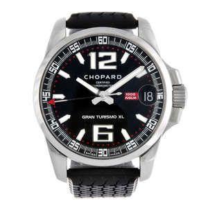 LOT:101   CHOPARD - a gentleman's stainless steel Mille Miglia Gran Turismo XL wrist watch.