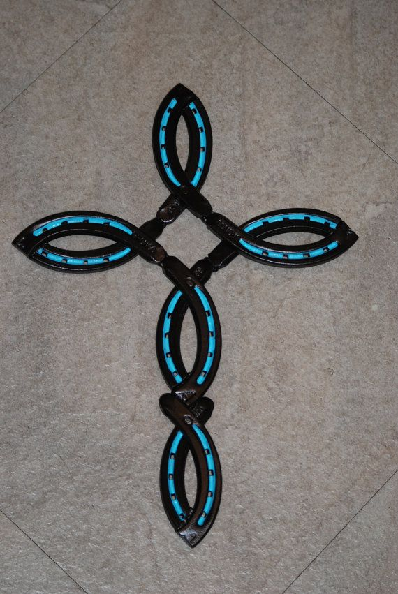 Hey, I found this really awesome Etsy listing at https://www.etsy.com/listing/261837882/horse-shoe-cross-christian-fish