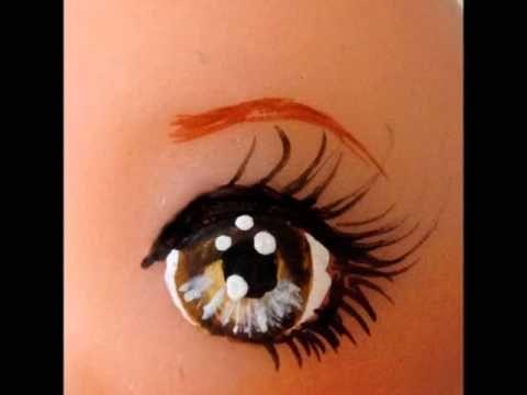 peindre des yeux sur la porcelaine froide par Natasel