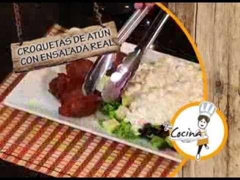 "Croquetas de Atún con Ensalada Real, en Tu Cocina ""Ricas Recetas"" - Canal Cosmovision - YouTube"