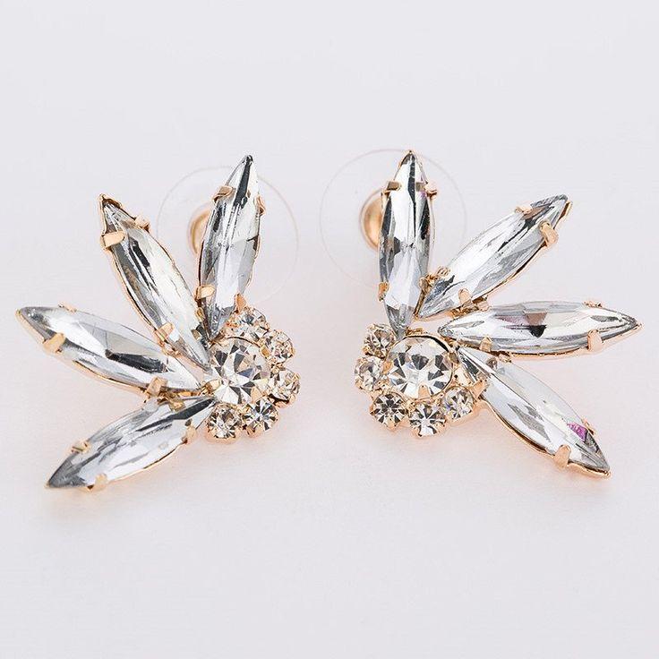 Crystal Fashion Clip On Earrings