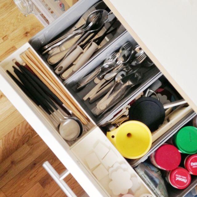 真上から/同じものを並べたい/収納BOX/調味料/カトラリー/引き出しの中…などのインテリア実例 - 2013-08-21 07:32:30 | RoomClip(ルームクリップ)