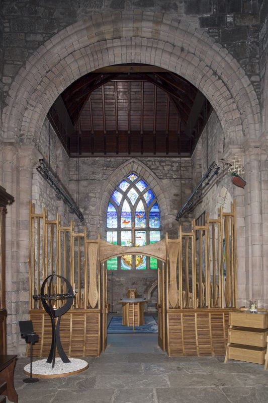 June 2015- The Mither Kirk North Transept. The Piper Alpha memorial stained glass window.