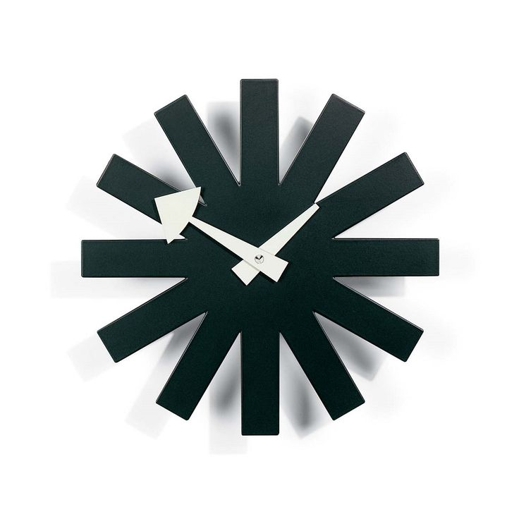 Asterisk Clock by George Nelson  - Vitra Nelson Wall Clock - Designed by George Nelson, 1948-1960 Nelson Wall Clocks | Sapphire Spaces