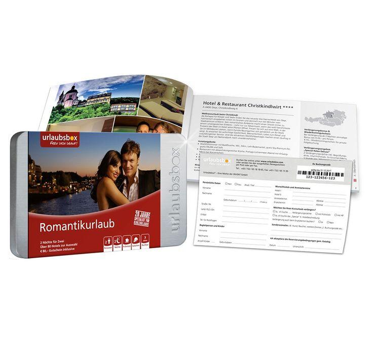 """Urlaubsbox - Kurzurlaub """"Romantik"""" für 2 Personen - Reise Gutschein - ideas in boxes - das individuelle Geschenkportal"""