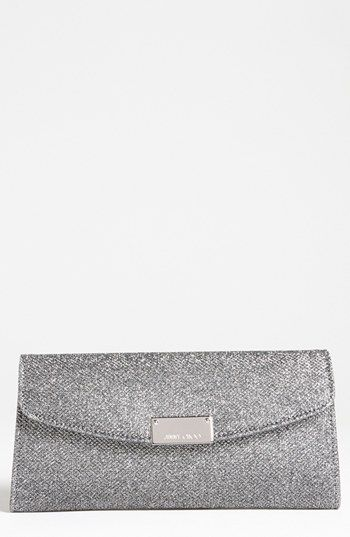 to match my shoes!  Jimmy Choo 'Riane' Glitter Lamé Clutch available at #Nordstrom