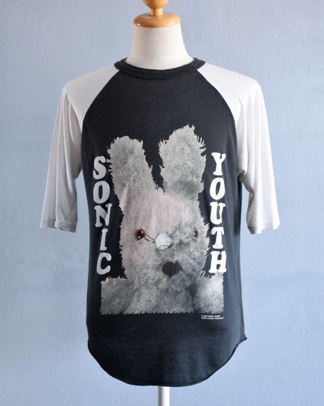 28652ca1 vintage ORIGINAL 1992 SONIC YOUTH t shirt raglan GRACIAS DIRTY bunny nirvana