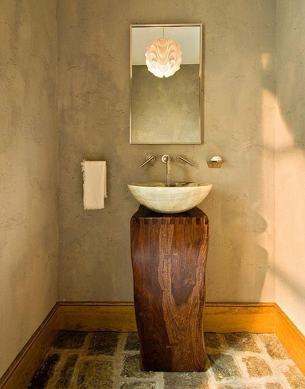 Bathroom: Minimalist Vanity Design With Marble Sink And Wooden .
