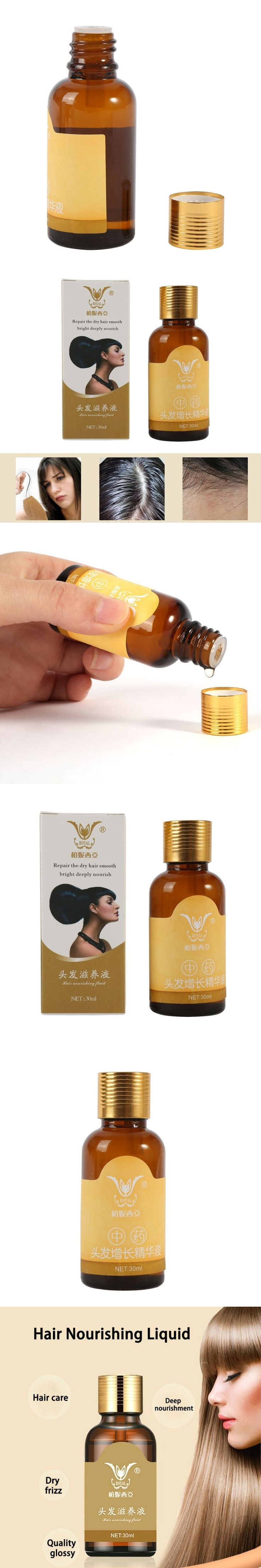 Natural Hair Loss Treatment Unisex Fast Growth Regrowth Essence for Women Men 30ML