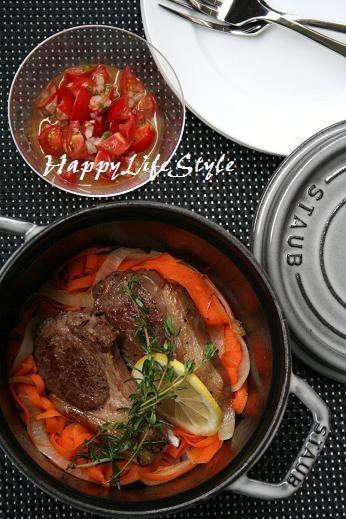 ストウブ】ラムチョップのハーブグリルと野菜リボン by happyさん ...