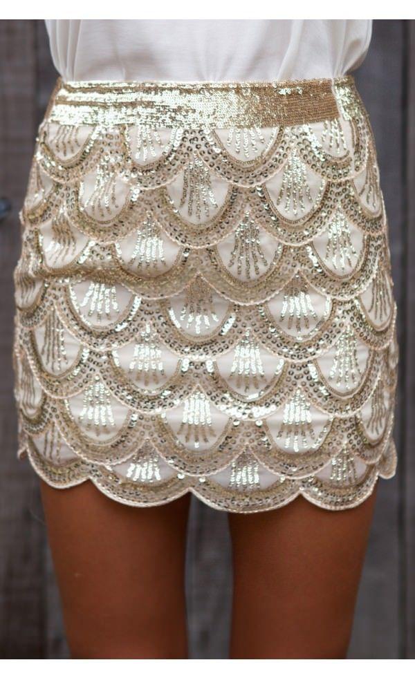 Mermaid Skirt Gold - Skirts - Bottoms - Clothing