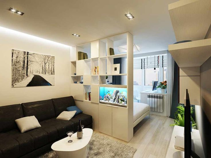Дизайн однокомнатной комнаты 18 кв м