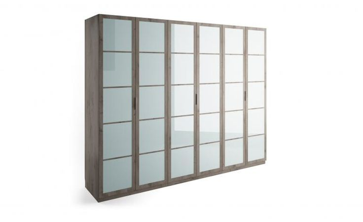 Armadio 6 ante Cassandra frosted glass | Conforama
