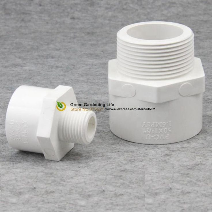 5pcs Male Adapter Male Connection Straight Joint Water Pipe Head Water Pipe Connector PVC Micro Irrigation Systems