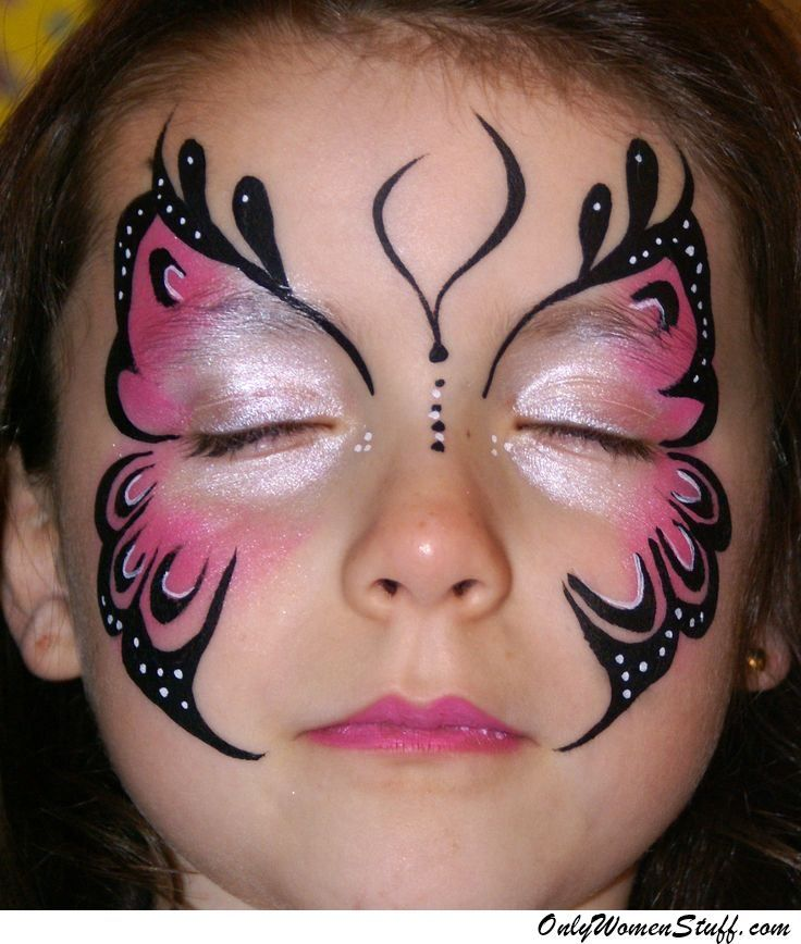 Only Women Stuff A Blog About Beauty Fashion Health Butterfly Face Paint Face Painting Easy Face Painting Halloween