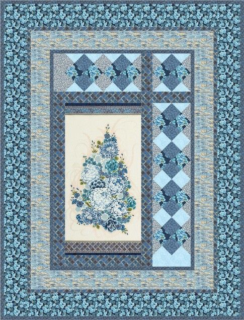 Chrysanthemum designed by Robert Kaufman Fabrics. Features Imperial Collection by Studio RK, shipping to stores March 2017. Three color stories (Black, Indigo, Jewel). FREE pattern will be available for download in March 2017 from robertkaufman.com#FREEatrobertkaufmandotcom