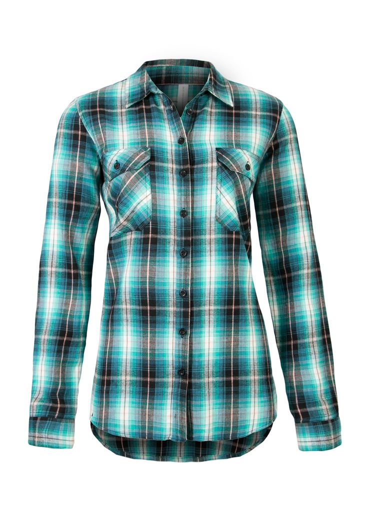 2 PKT FLANNEL BLUE IVY PLAID SHIRT RELAXED FIT