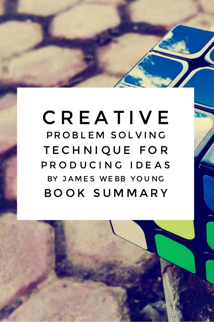 Ever dream of becoming a creative problem solver? Creativity and problem solving are among the top 10 skills needed for future jobs. In this book summary for A Technique for Producing Ideas by James Webb Young you are introduced to a 5-step creativity model, that if used will teach you problem solving strategies. By working through the activities, you will learn to become a better problem solver. Buy your copy of the e-book today!