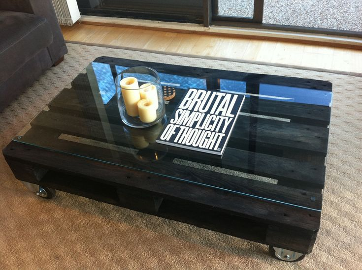The Condi Custom Made To Order Ebony Stained Coffee Table Made Of Reclaimed Wood Coffee