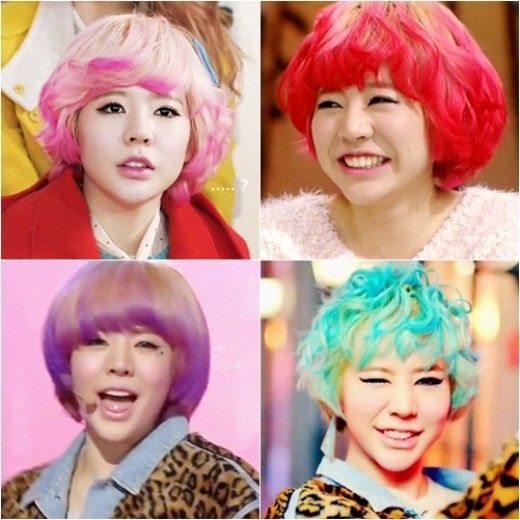 SNSD's Sunny dyes her hair various colors from pink to mint « KoreaDotCom #snsd